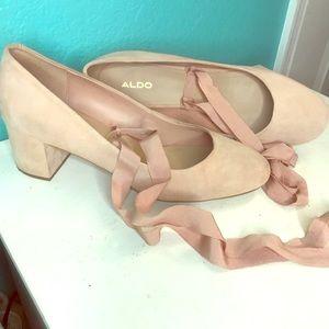 Lace up ballerina heels